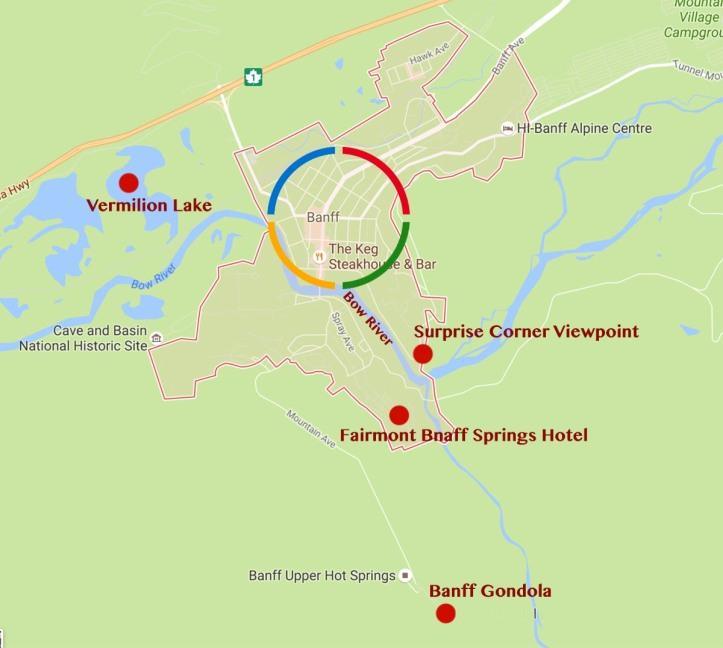 map town banff