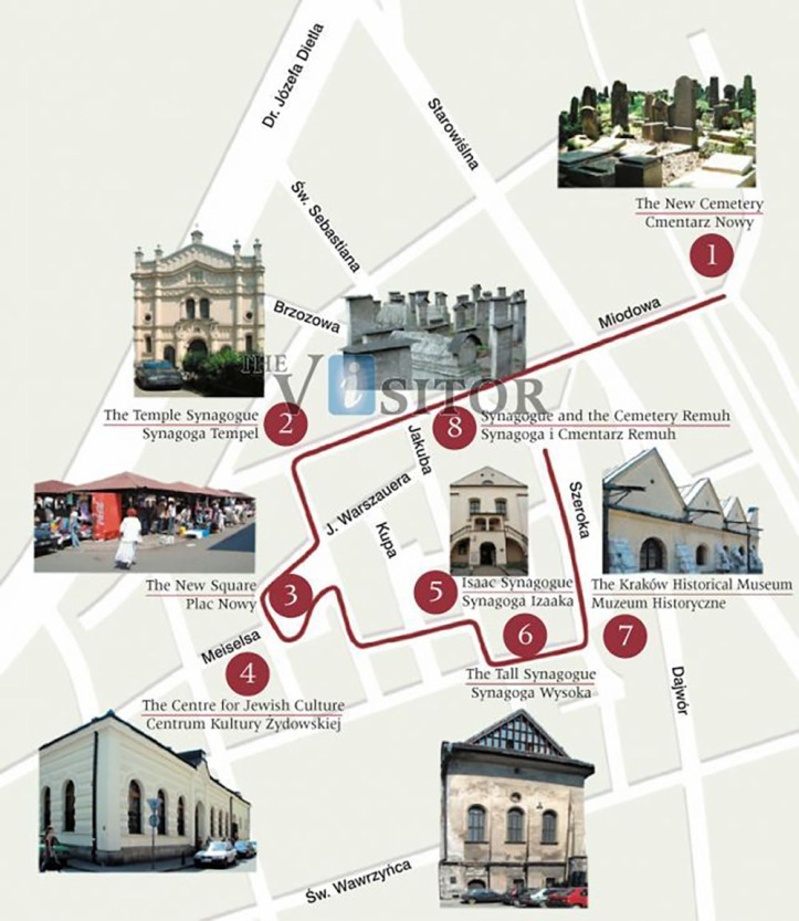 kazimierz_krakow-walking-route-map