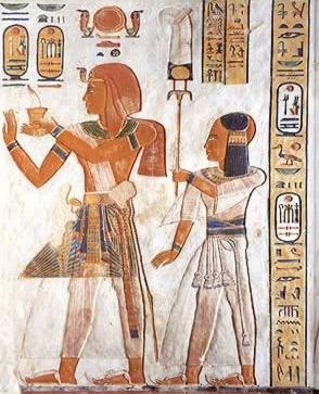 Ramses III พา Khamwaset พบเทพเจ้า