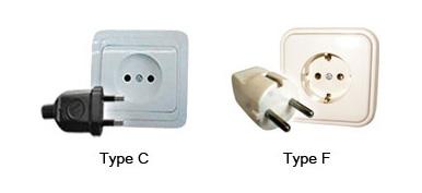 Plug C and F
