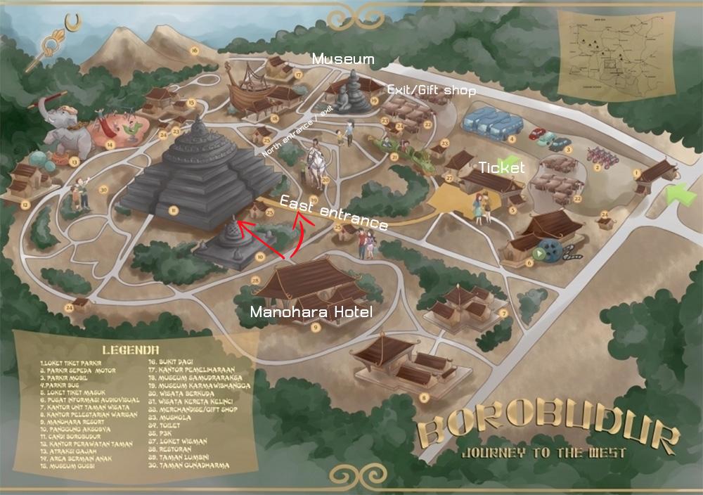 Bodobudur map
